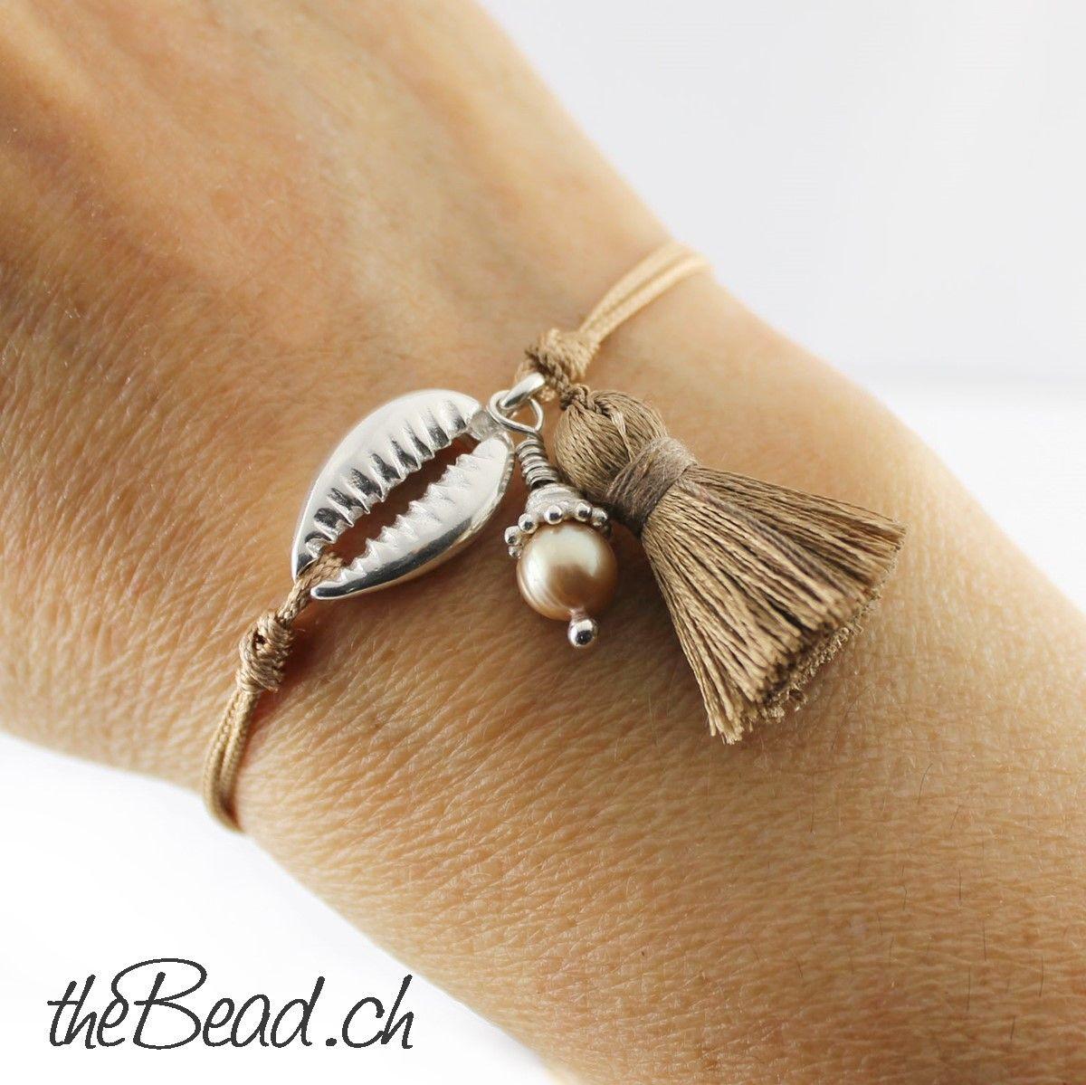 925 Sterling Silber MUSCHEL Armband