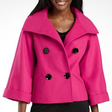 e6ded6e8bd0 Plus Size Coats   Jackets for Women - JCPenney. Worthington® Cropped  Peacoat in Sangria   jcpenney