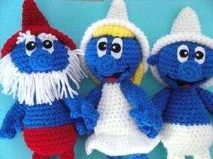 Amigurumi Doraemon Free Pattern : Papa smurf crochet pattern the smurfs smurfette papa clumsy smurf