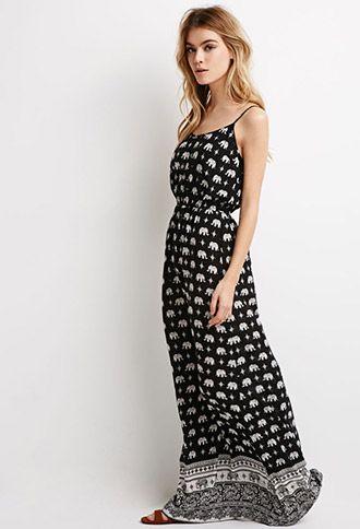 5dae44c6027 Elephant Print Maxi Dress