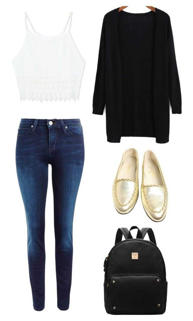 """""""Black gold"""" by kidrauhl-06 ❤ liked on Polyvore featuring Lee, Chanel, women's clothing, women, female, woman, misses and juniors"""