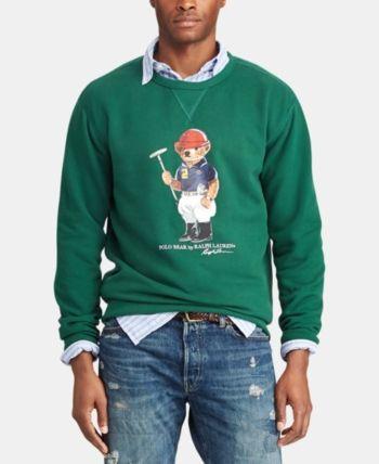 8a6fc572 Polo Ralph Lauren Men's Polo Bear Fleece Sweatshirt, Created for ...