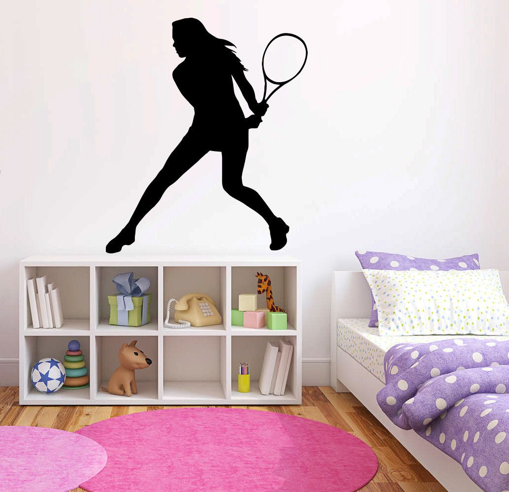 Tennis Wall Decal Tennis Wall Decor Tennis Wall Sticker Tn1 In 2020 Kids Wall Decals Custom Wall Decal Wall Decals