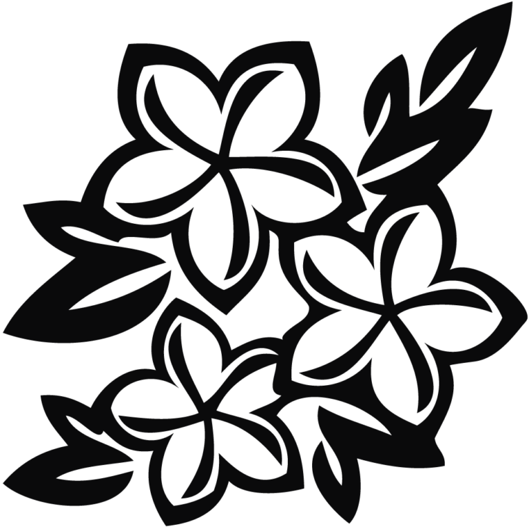 45+ Black and white flower clipart free download info