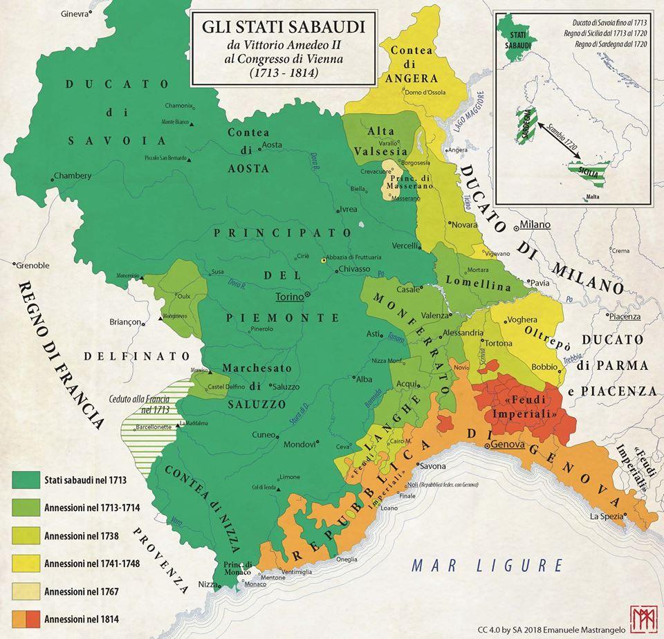 Cartina Del Regno Di Sardegna.Il Regno Di Sardegna Nel 1815 Mappe Storia E Evoluzione