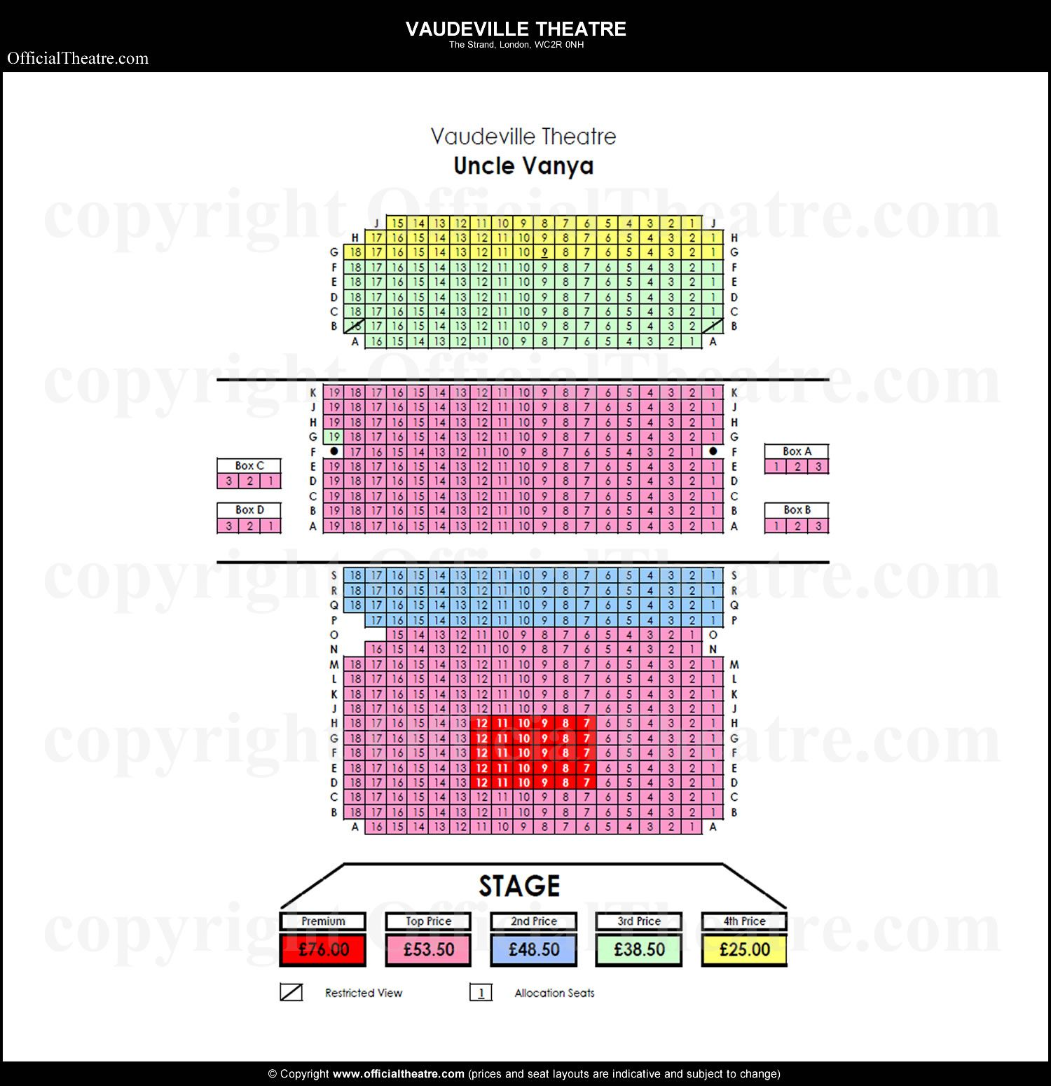 vaudeville theatre seating plan and price guide vaudeville