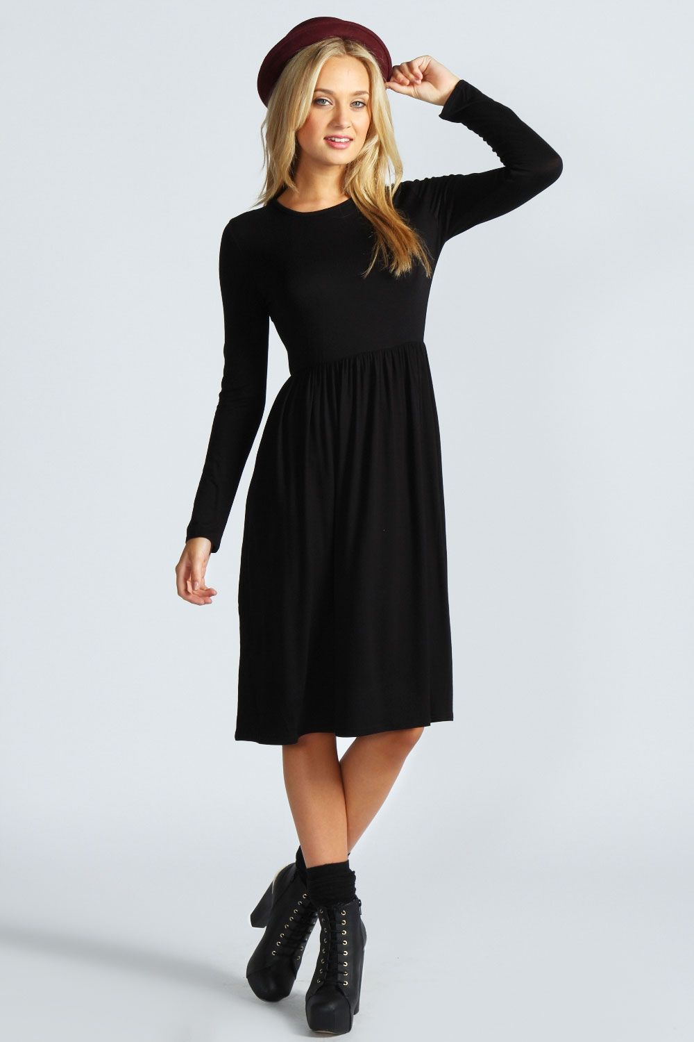 Long sleeve midi dress f a s h i o n pinterest midi dresses