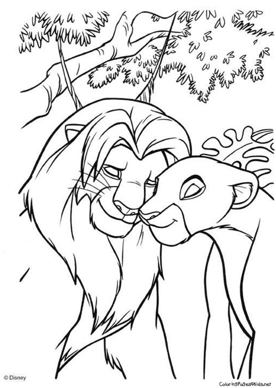Lion King Coloring Pages | Coloring Pages For Kids | mosaicos ...