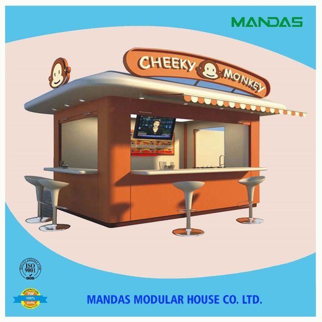 Source fast food kiosk design,mobile food kiosk, outdoor