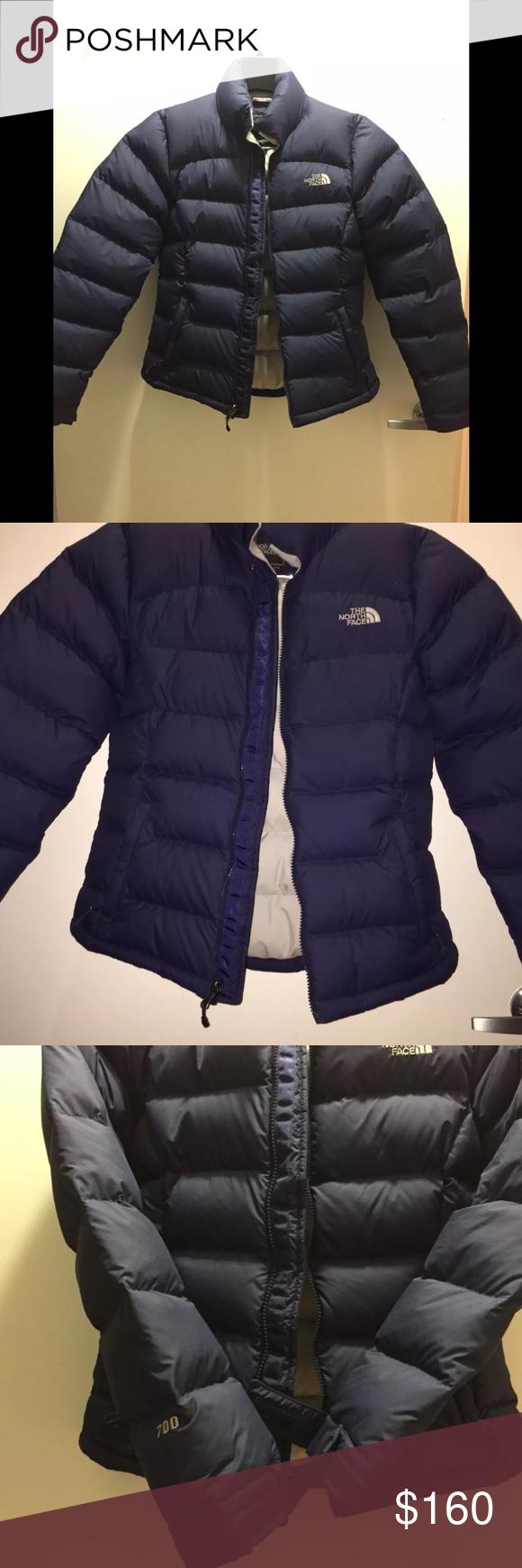Women S North Face Puffer Bubble Coat Navy Size S Women S North Face 700 Coat Size S New Without Tags The North F Clothes Design Bubble Coat North Face Jacket [ 1740 x 580 Pixel ]