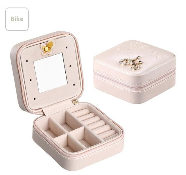 4bea123ca516 Mini Travel jewelry box cosmetic makeup organizer packaging Boxes ...