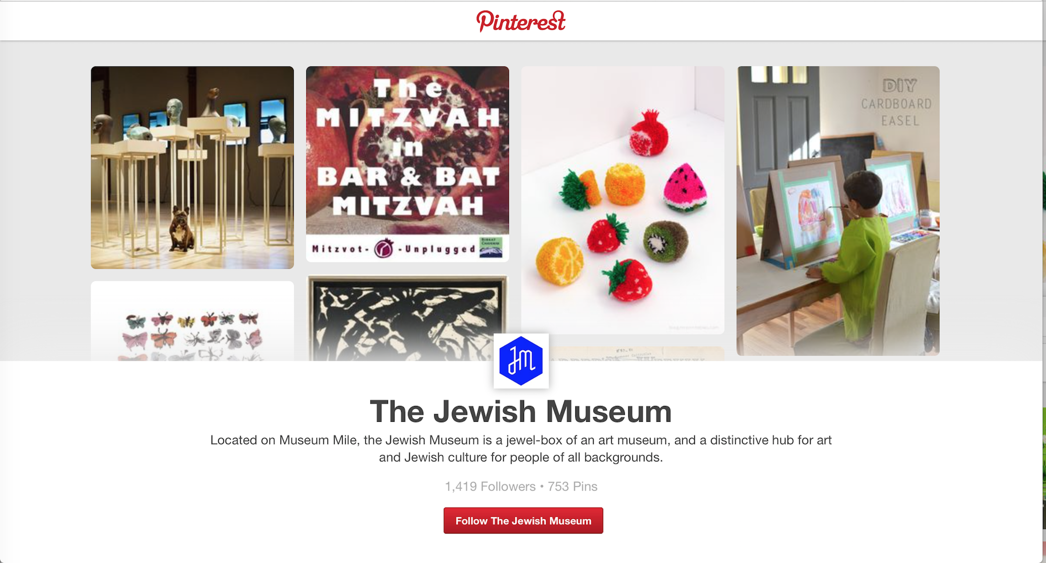 Joseph K. Levene Fine Art, Ltd. and Susan Cushing welcome The Jewish Museum to the Museums on Pinterest pinboard; follow 16 prestigious museums on Pinterest: https://www.pinterest.com/follow/jklfa/museums/
