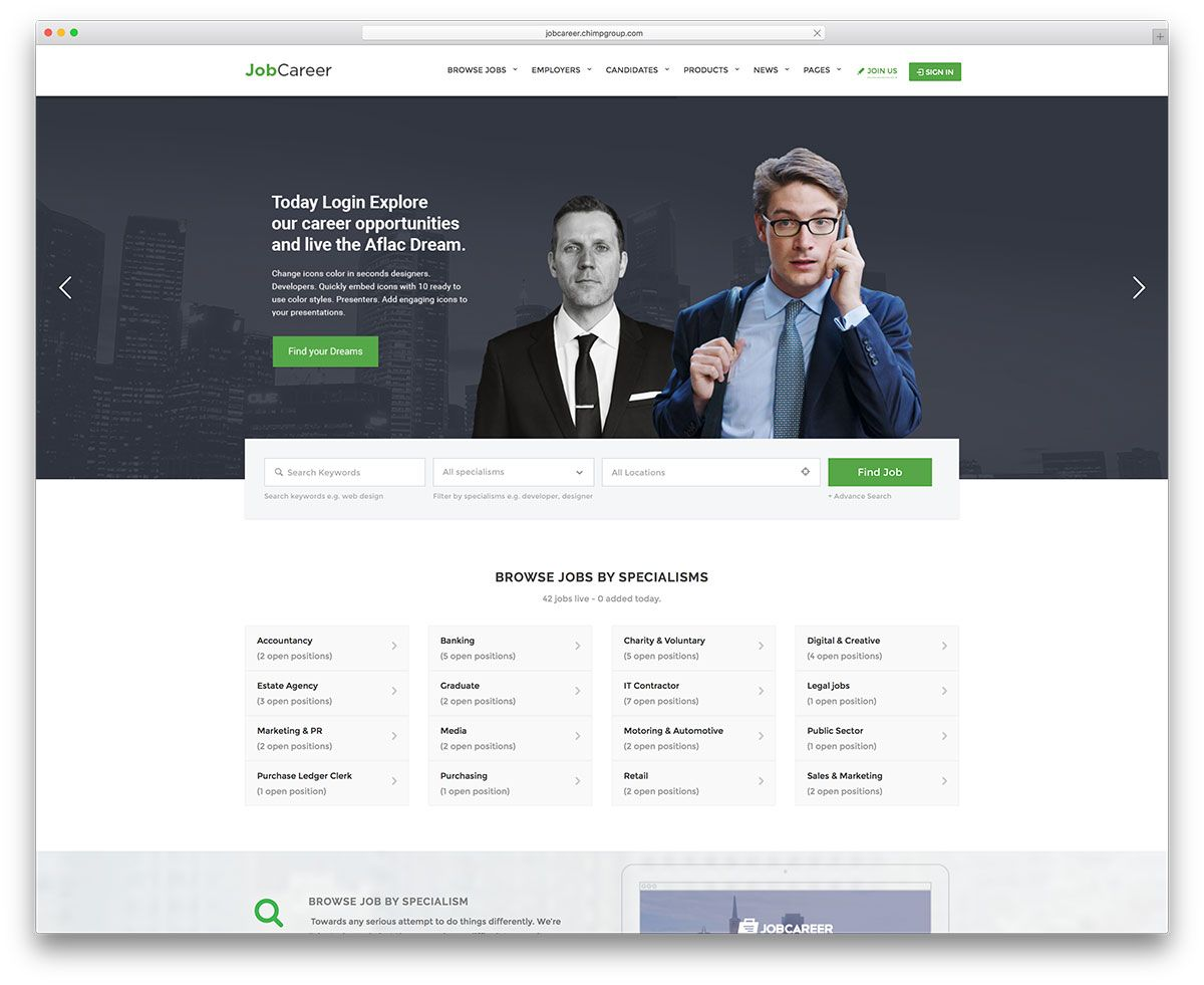Jobcareer Creative Job Board Website Template