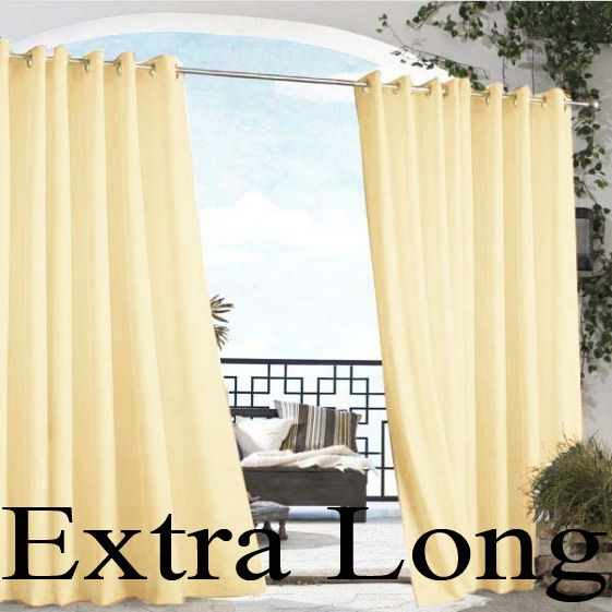 Check Out The Deal On White Gazebo Solid Grommet Top Indoor Outdoor Long  Curtain Panel At BedBathHome.Com