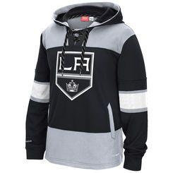 on sale 9bf8f ebabd Los Angeles Kings Reebok Black Team Jersey Pullover Hoodie ...