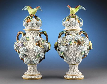 Stunning In Detail And Size These Exceptional Meissen Vases Are