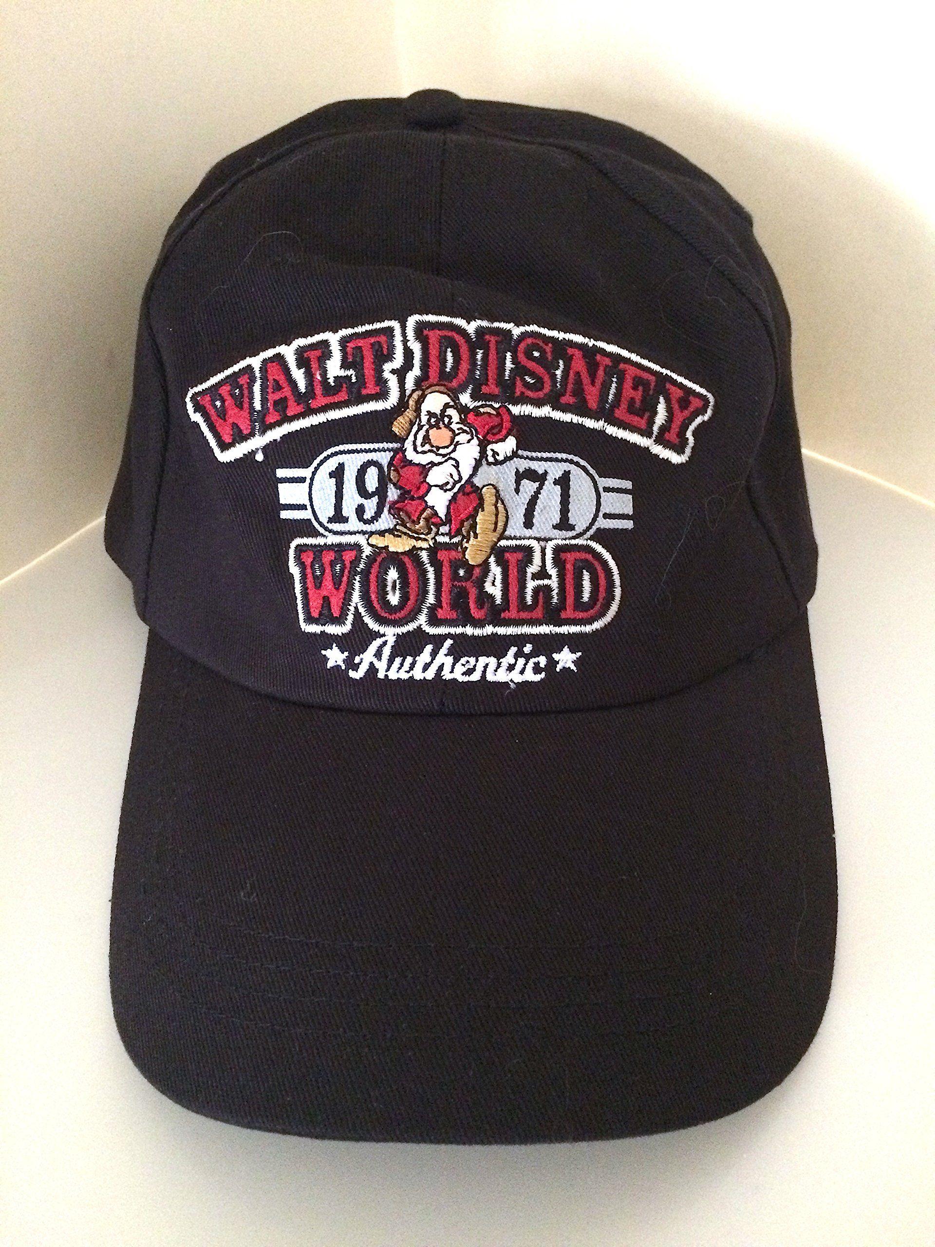 f340574f9b9 Walt Disney World Grumpy Black Hat Cap NEW