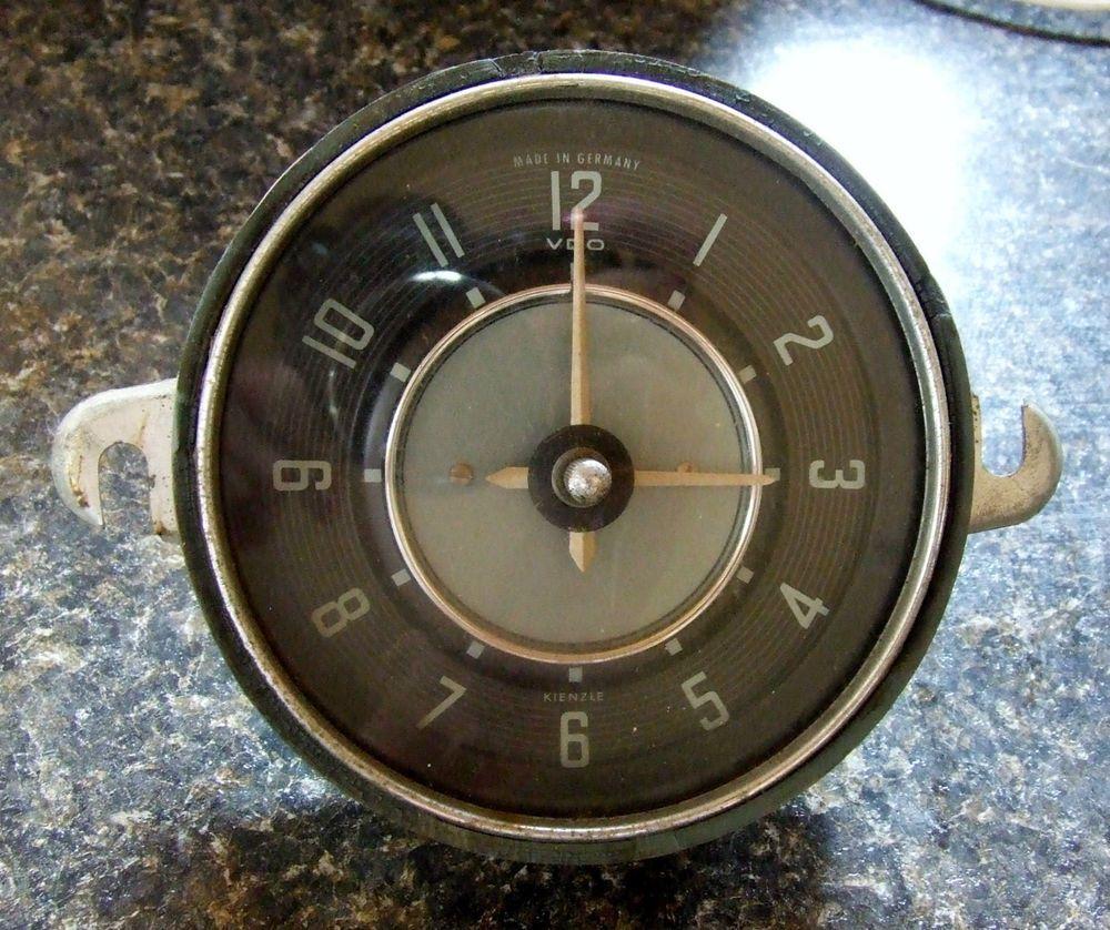 Vintage Vw Karmann Ghia Kienzle Dash Clock Vdo 6 Volt Rare Floyds Gauge Wiring In A Volkswagen Beetle This Is Now For
