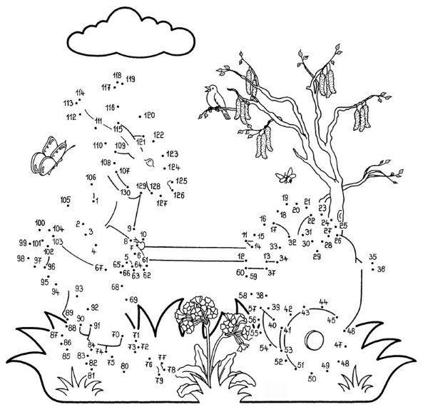 Dibujo de unir puntos de un conejo: dibujo para colorear e imprimir ...