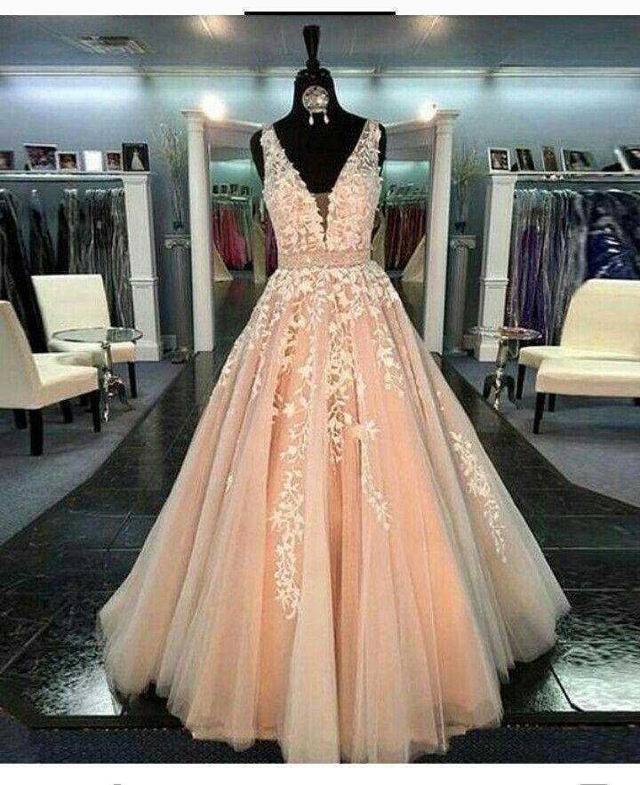 Peach Cheap Prom Gowns