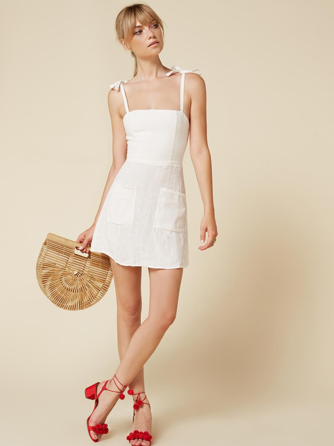 aa2bf591b7 Jilly dress white by Reformation