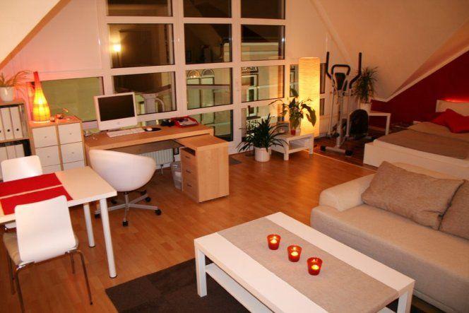 Wohnzimmer Wohn Schlaf Und Arbeitszimmer Dachgeschoss Ideen