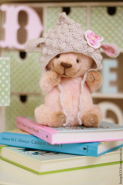 Веснушка - бледно-розовый,мишка тедди,мишка,мишка ручной работы,игрушка ручной работы