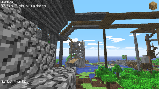 Minecraft is a game about placing blocks to build anything