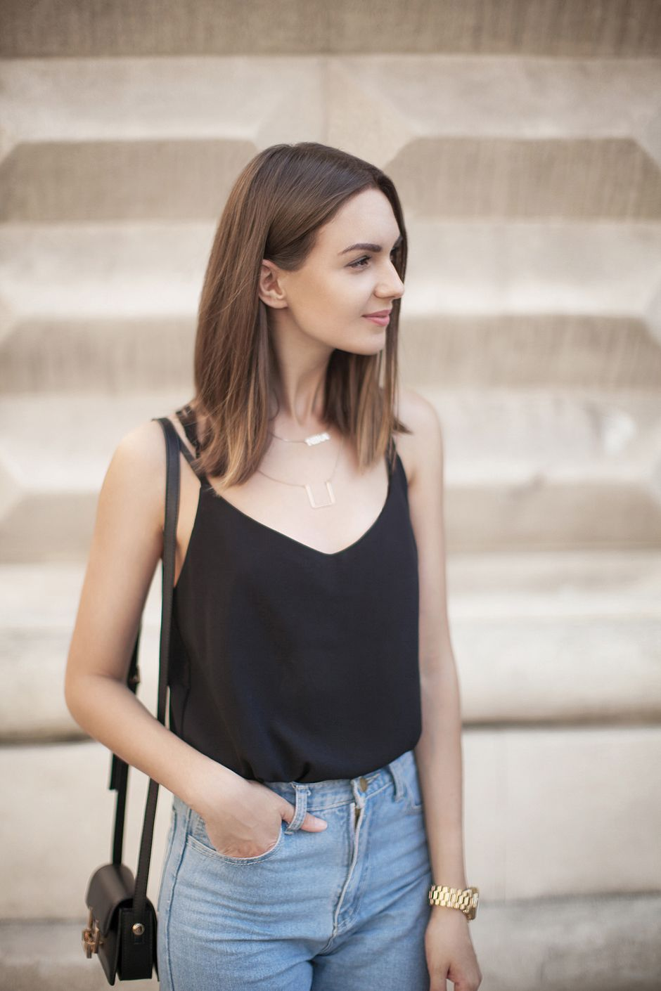 black-cami-top-street-style-outfit | s/s moodboard | pinterest