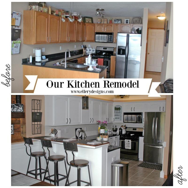 Kitchen Cabinets Finishes: Snow White Milk Paint Kitchen Transformation