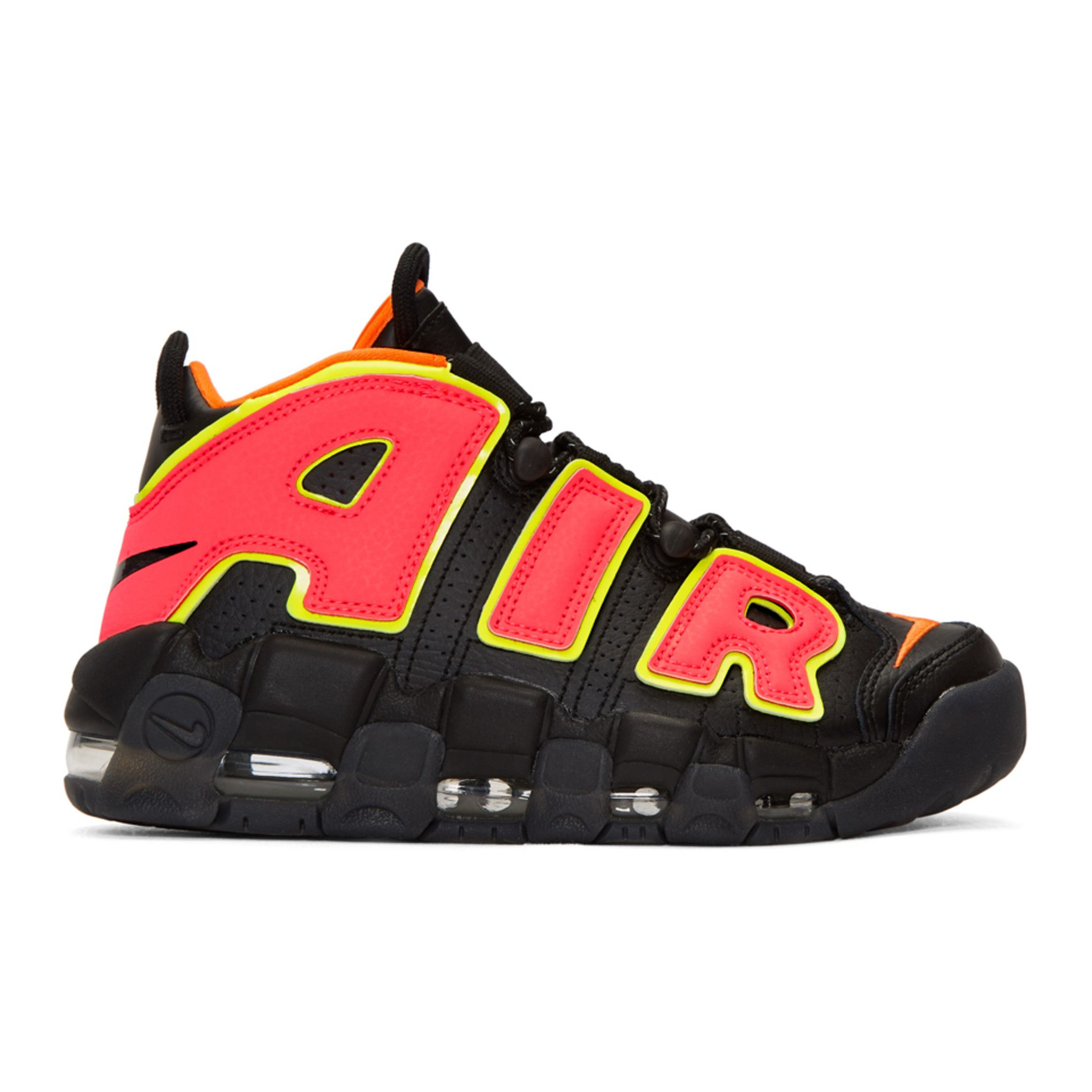 Nike - Black Air More Uptempo Sneakers