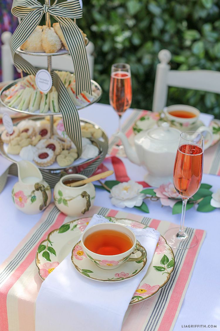 Host your own simple Afternoon Tea party with this delicious High Tea menu featuring cucumber sandwiches and deviled eggs from Lia Griffith. & Host an English Style High Tea | Pinterest | High tea English style ...