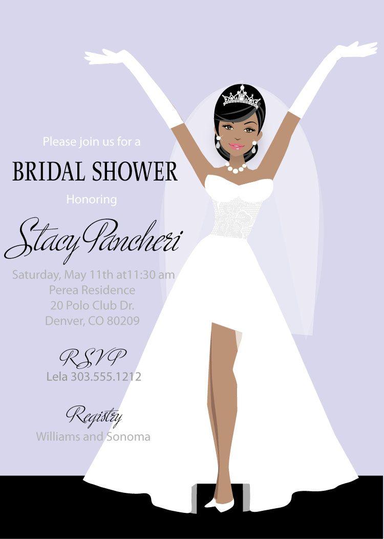 Elegant Bride Bridal Shower Invitations   Pinterest   Shower ...