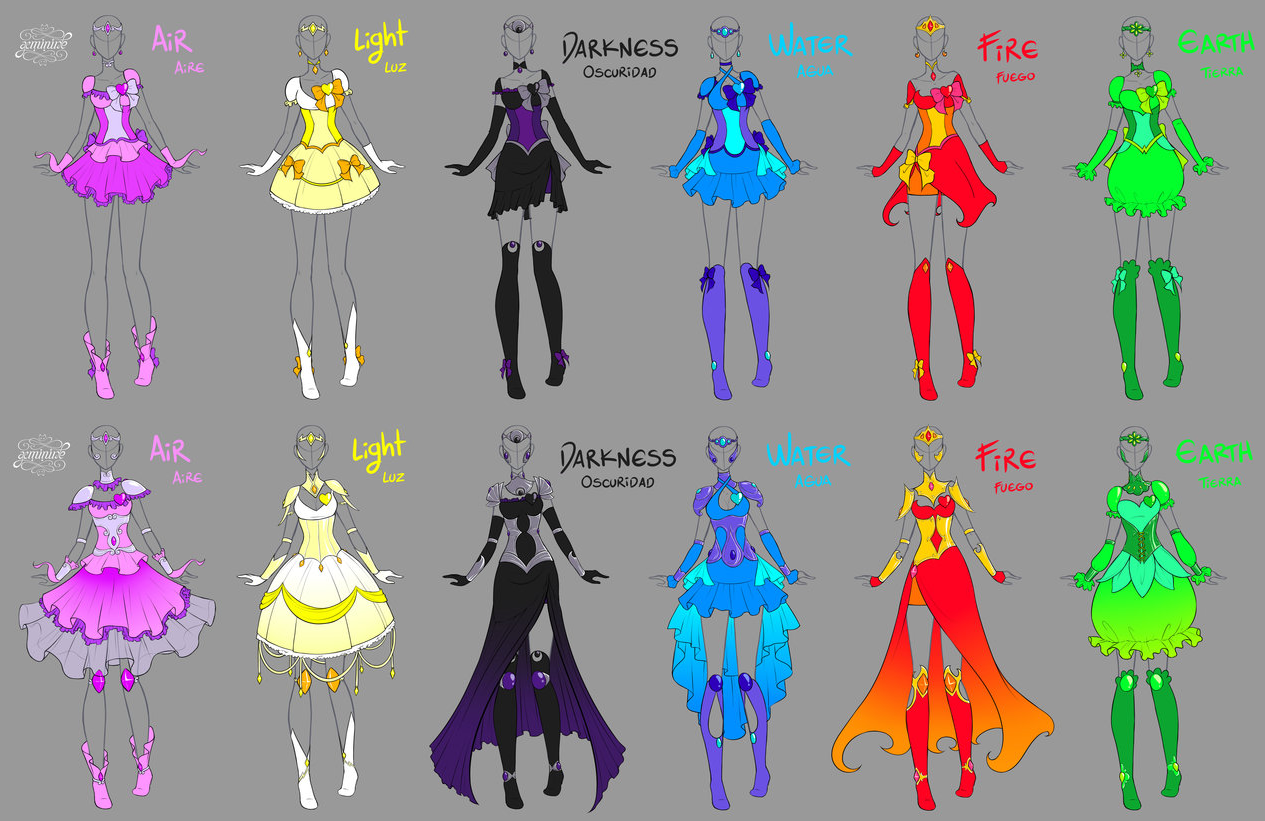 Magical Girl Dresses and Armor Magical girl, Character