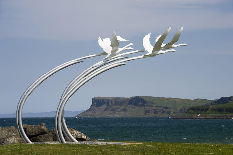 Pictures Of Ireland Children Of Lir Sculpture Ballycastle Ireland Southern Ireland Ireland Homes