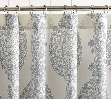 Lucianna Medallion Shower Curtain Shabby Chic Shower Curtain