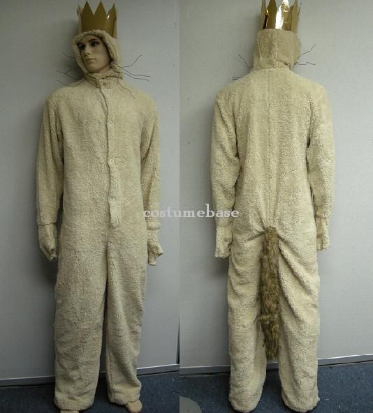 Adult Book Movie Where the Wild Things Are Max King Wolf Suit Jumpsuit Costume
