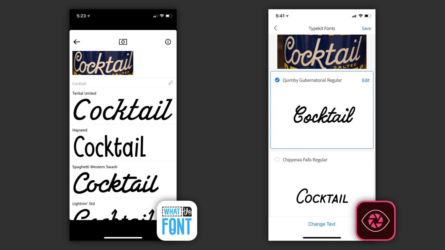 Comparison the best apps for identifying fonts with your