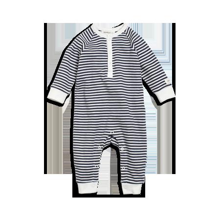 söt billig prestanda sportkläder detailing Randig pyjamasoverall från Newbie, med rundad hals och knappslå ...