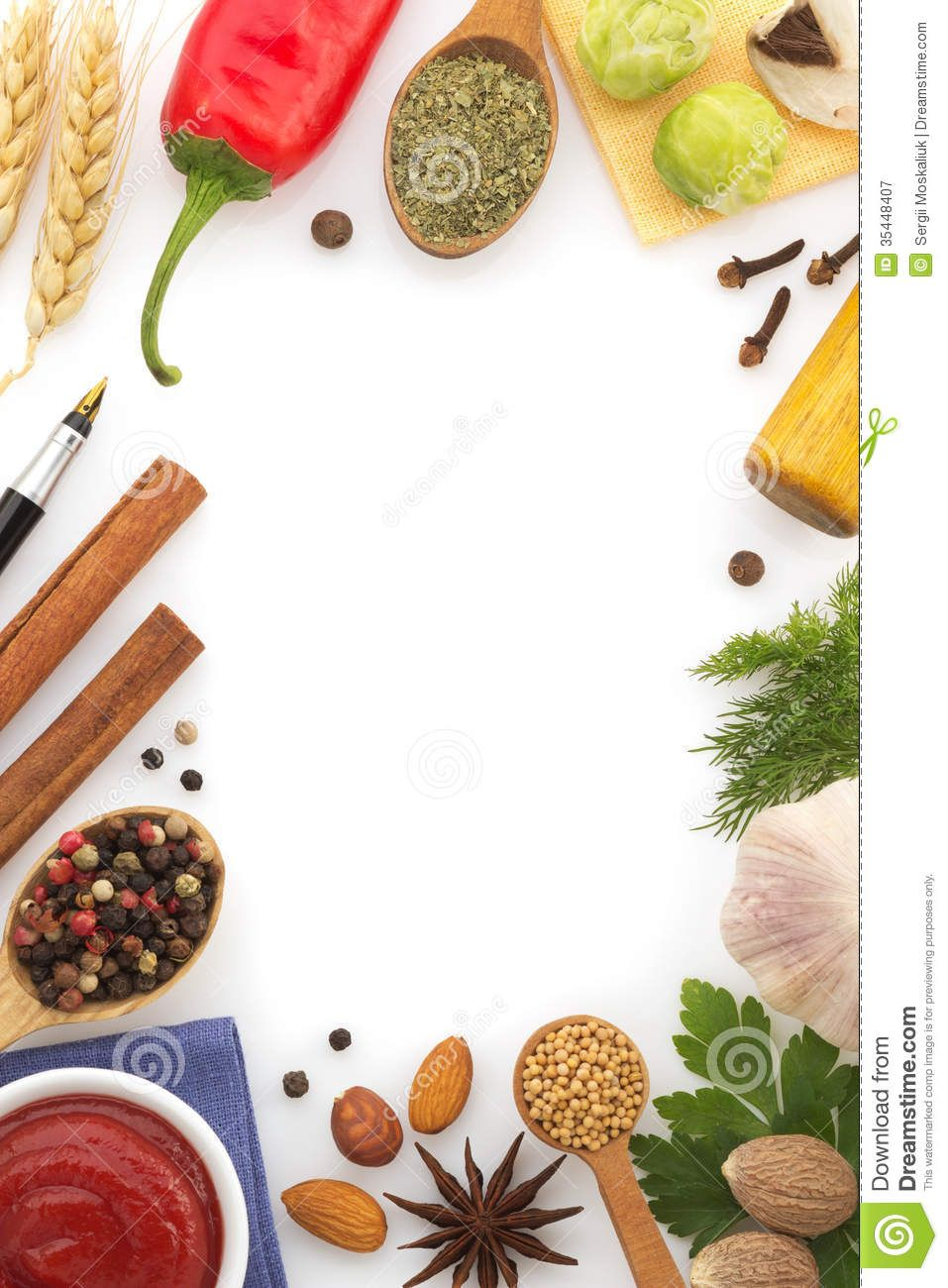 Wallpaper Spice Drops Candy Colorful 4k Lifestyle 7500: Food-ingredients-spices-white-background-35448407.jpg (957