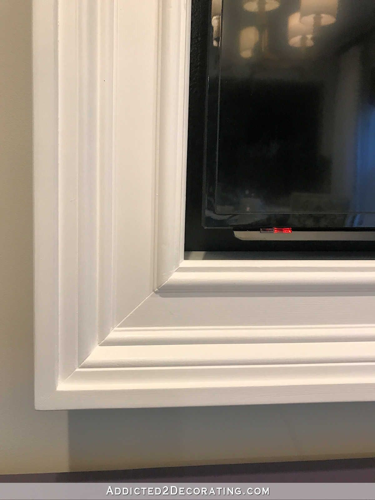 Custom DIY Frame For Wall Mounted TV – Finished