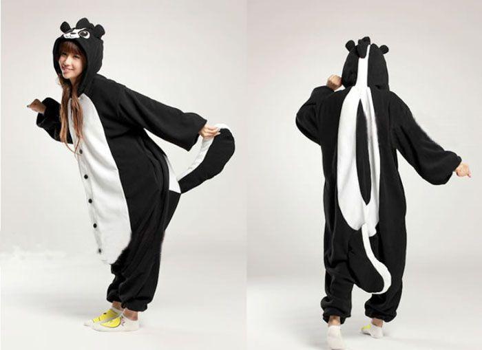52e563e2b4 skunk Kigurumi. skunk Kigurumi Onesie Pajamas