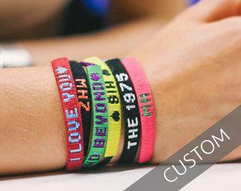 Customized Friendship Bracelet By Friendlybracelets On Etsy