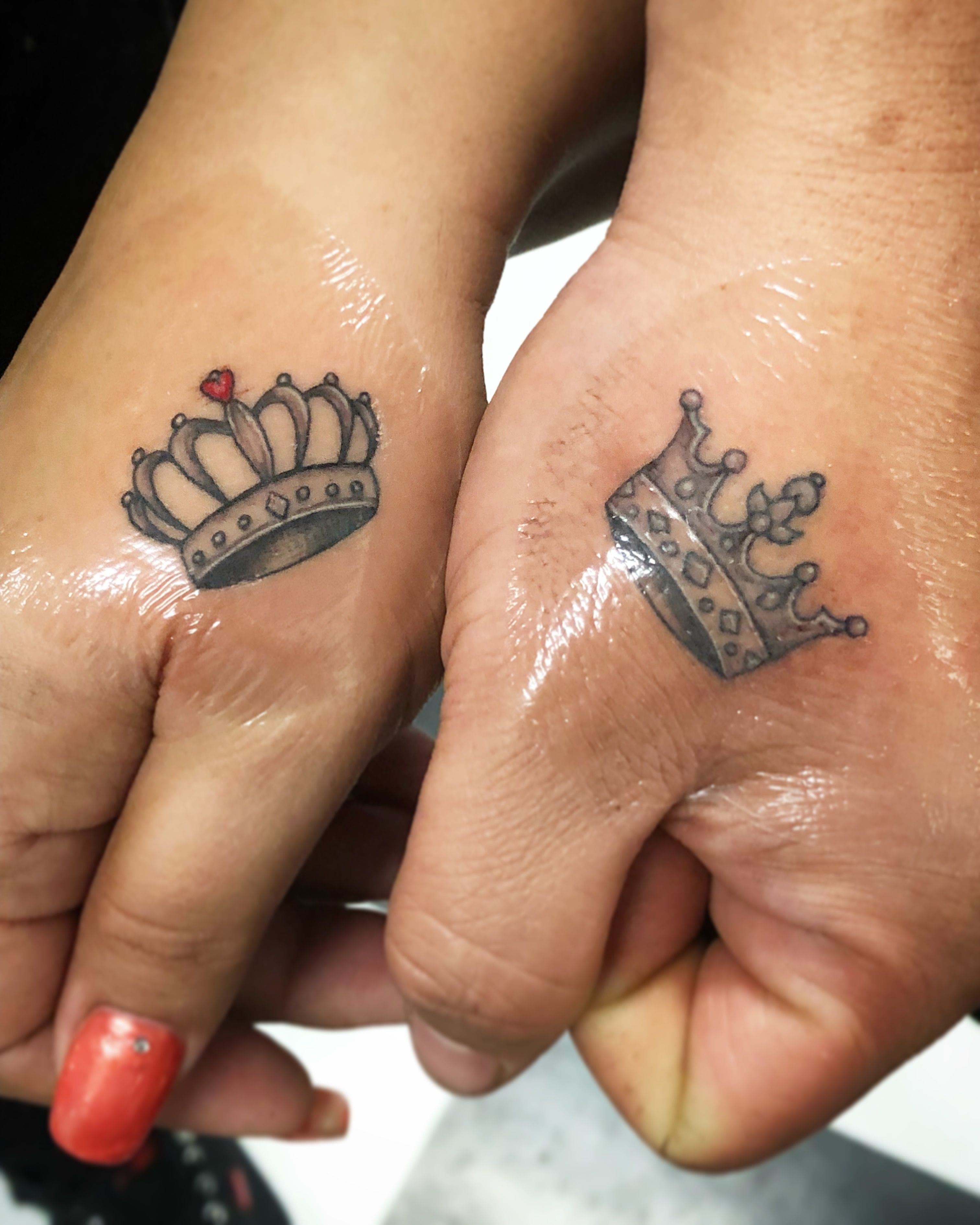 Queen King Couples Tattoos By Candeeo Tattoos Intimate