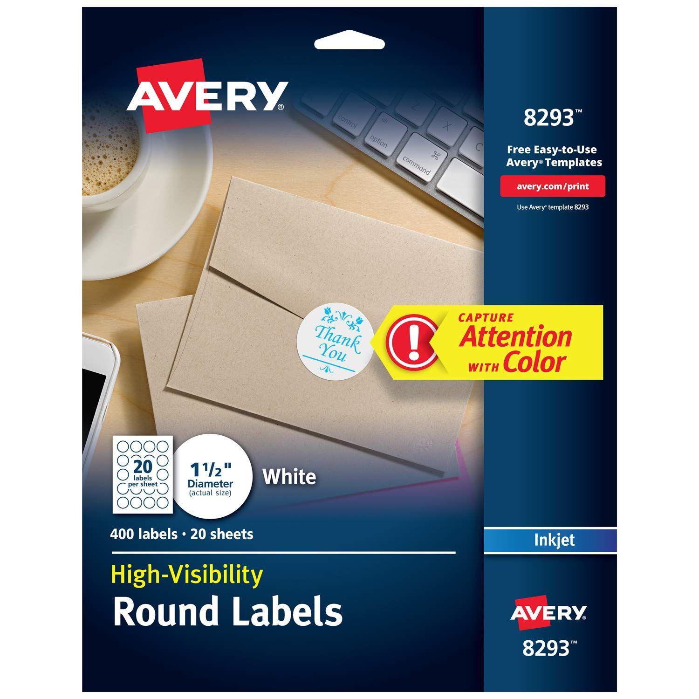 Avery highvisibility 15 round labels