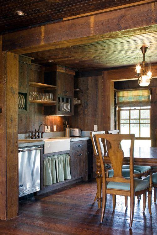 Cabin Style Decorating Ideas | Small cabin kitchens ... on Farmhouse:4Leikoxevec= Rustic Kitchen Ideas  id=15830