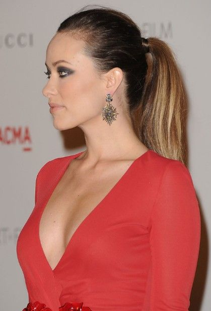 Celebrity Ponytail Hairstyles Long Sleek Hairstyles Short - Hairstyle for round face ponytail