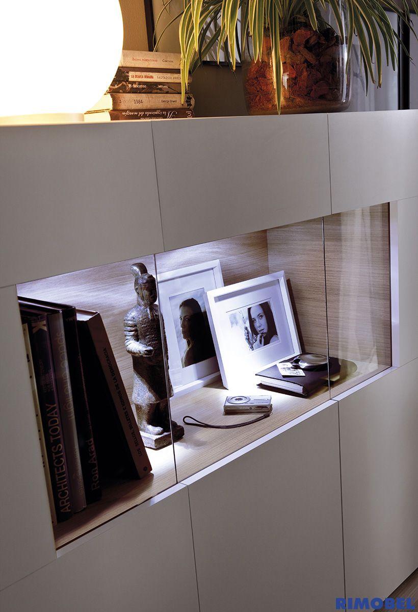 Duo 04 dale vida a tu aparador multifuncional con luz led for Muebles de salon con luz led