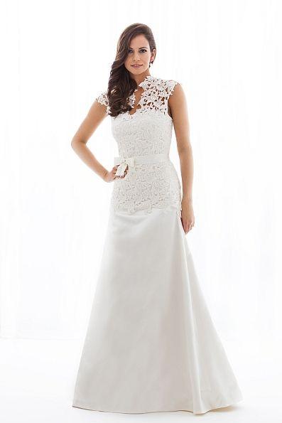 Dress Amaris - Handmade cotton lace and silk wedding dress ...