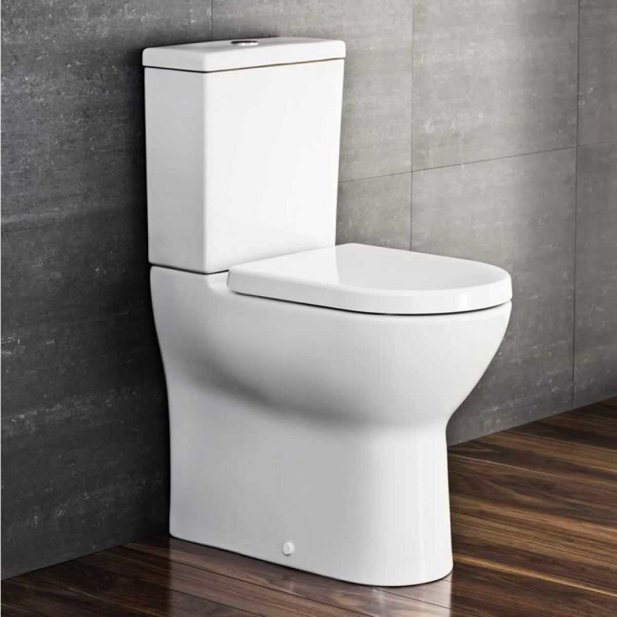 VitrA S50 Raised Height Close Coupled WC Toilet, Comfort